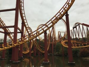 A roller coaster ride in France