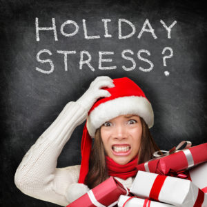 Lady with holiday stress