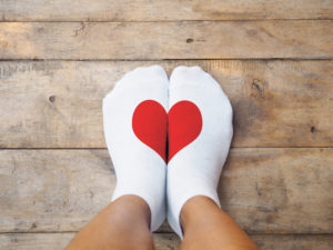 Socks with heart