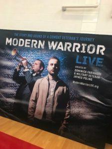 modern warrior live poster