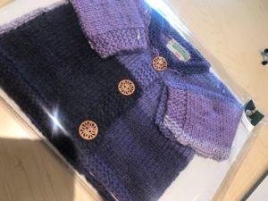 baby sweater purple