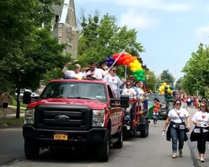 Pride parade photo of Horizon's float